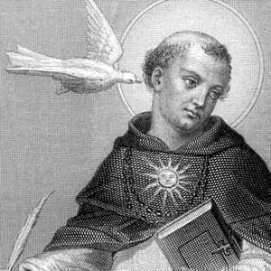 Resulta que la paloma es el espíritu santo, pero sin dudo le está atacando.